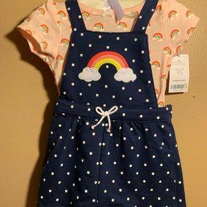 Carters babygirl Rainbow Bodysuit w/ Overall Dress